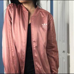 Rose Gold Woman's Adidas Original Bomber Jacket